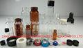5ml cosmética parafuso frasco de vidro com tampa de plástico