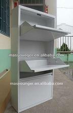 Modern design metal product exquisite steel corner closet doors wardrobe cabinet/cupboard bedroom furniture in villa