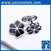 metal cufflink heart flower shaped for wholesales