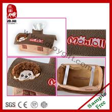 Stuffed toys car tissue box