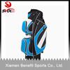 High quality custom leather golf cart bags/custom make golf bag