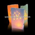 sternförmige kerzenhalter transparent kerze wachs