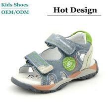 Genuine Leather Kids Sport No Heel Beach Sandals
