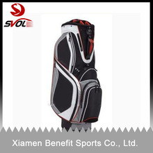 High quality custom leather golf cart bags/antique golf bags