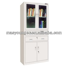 Stainless steel half height swing glass door filing/medical/bar hallway display cabinet/cupboard office furniture
