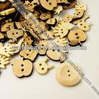Bulk Mixed Wooden Buttons(WOOD-MSMC002-1)