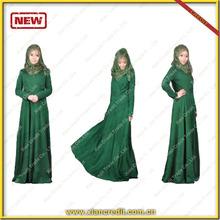 2014 Muslim women Closing Dubai abaya for festival lady's Abaya Women's beautiful long blouse hot selling muslim women's abaya