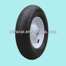 OEM sanding rubber wheel 4.00-8 straight burr for Wheelbarrow