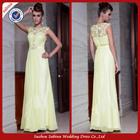 E0782 Floor Length Chiffon Design Lime Green Evening Dress Elegant Eevening Summer Dress