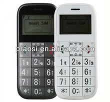 elderly GSM cellphone with big button/SOS/ FM radio/quadband one year warranty