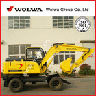 construction machinery yuchai excavator mini wheel excavator DLS880-9A for sale