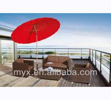 All weather with umbrella outdoor sofa set,rattan furniture