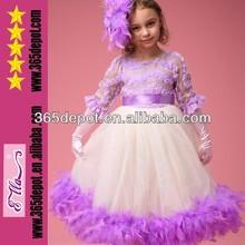 Free Shipping!Big Promotion Dress Kids Feather Dress Fluffy Hem Feather Dress