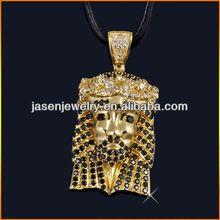 gold plated hip hop pendant jesus piece