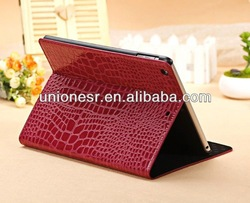 Accept paypal crocodile pattern flip leather case for ipad air