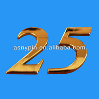 letter Car Decal Emblem Badge, 25 year anniversary metal emblem , gold letters metal badge sticker