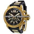 2014 vendiendo la parte superior de acero inoxidable de lujo cronógrafo reloj reloj de pulsera de marcas