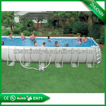 Outdoor portable PVC above ground framed swimming pool inflatable swimming pool