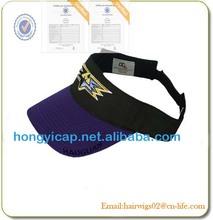 China cap factory visor hat pvc sun visor cap