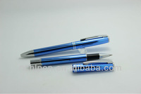 new 2014 promotional item carbon fiber luxury metal roller ball pen