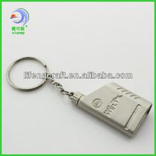 Custom 3D Promotional Keychains Engrave Logo Metal Key Chain (LD-274)