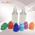 20ml clear e liquido/e- sigaretta/vapore/fumatori olio/bottiglia di plastica con tappo a prova di bambino