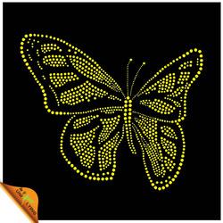 Butterfly rhinestone heat transfers design wholesale in China