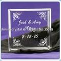 grabado de vidrio bloque de invitación de boda para los recuerdos