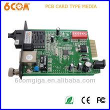 10/100/1000base 40KM PCB media converter