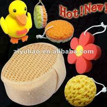 Promotional animal bath sponge,fish shape bath sponge