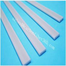 pultrusion white 3mm*10mm strong fiberglass strips supporing Roman curtain Blinds curtain frp flat bar