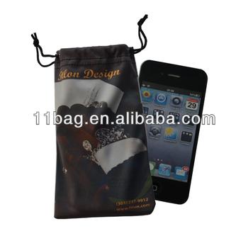 Microfiber eyeglasses bag/cell phone pouch