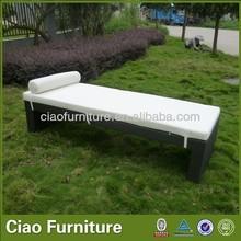 Patio wicker aluminum sun lounge bed for leisure
