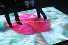 2014 Hot Sale New Disco Acrylic glass effect video led dance floor