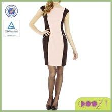 Office wear Zip Detail bodycon Colour Block designer dress for women