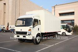 howo 4x2 van truck euro II