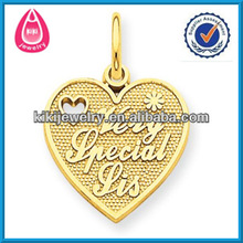 fashion engravable blank very special sister alloy heart charms