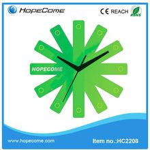 (HC2208)hot unique folding plastic promotional wall clock