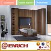 Curved Bedroom closet wood cheap wardrobe closet(EKAD1400046W)