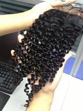 Lace area 4x4 mongolian kinky curly hair closure