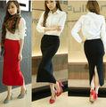 hot vente 2014 dernière mode femme belle et longue jupes en tricot