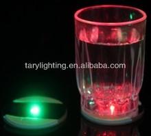 LED lighting coaster with LED ice cubes,lime/lemon,star~CE RoHS~reusable ice cube with logo plastic LED light coater