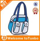 2014 hot 3d carton hand bag blue China manufacturer