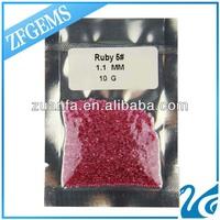 Wholesale Wuzhou Loose Round Cut ruby Gemstone