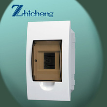 2014 New CE Approval IP40 4 Ways Transparent Cover Flush Mounted Plastic Distribution Box TF-4