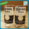 2014 New design beer glass Corona Extra Beer Bottle Glasses Set of Four highball glass tumbler