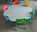 Niños de mesa y una silla/para niños de mesa de plástico/muebles para la educación de los niños