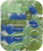 crackle big mix beads