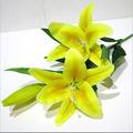 atacado toque real flores amarelas lírio artificial