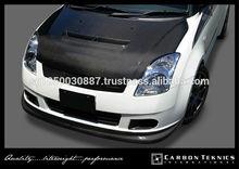 Carbon Fiber Front Hood in Monster style ver 1 for Suzuki Swift/ Swift Sports